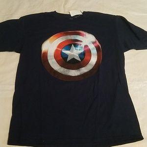 Marvel Captain America Blue T-Shirt NEW